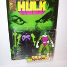 INCREDIBLE HULK SERIES SHE HULK ACTION FIGURE W/ GAMMA CROSS BOW 1996 TOYBIZ
