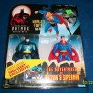 BATMAN SUPERMAN ANIMATED WORLD'S FINEST BATMAN & SUPERMAN ACTION FIGURE 2 PACK 1998 KENNER HASBRO