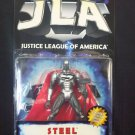 JLA JUSTICE LEAGUE OF AMERICA STEEL ACTION FIGURE 1998 HASBRO