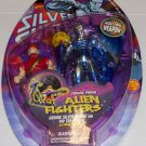 SILVER SURFER COSMIC POWER ALIEN FIGHTERS W/ PIP THE TROLL PURPLE BUBBLE ACTION FIGURE 1998 TOYBIZ