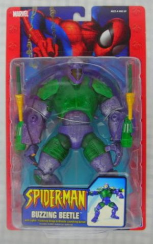 MARVEL LEGENDS SPIDERMAN CLASSICS BUZZING BEETLE 6 INCH SCALE ACTION FIGURE 2005 TOYBIZ