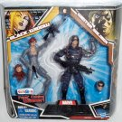 MARVEL LEGENDS TOYS R US EXCLUSIVE BLACK WIDOW IN GRAY & WINTER SOLDIER ACTION FIGURE 2 PACK HASBRO
