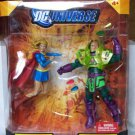 DC UNIVERSE CLASSICS SUPERGIRL & LEX LUTHOR KRYPTONITE CHAOS ACTION FIGURE 2 PACK 2009 MATTEL