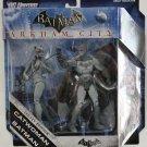 BATMAN & CATWOMAN ARKHAM CITY LEGACY EDITION ACTION FIGURE 2-PACK GREY VARIANT MATTEL DC UNIVERSE