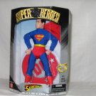 DC SUPERHEROES SILVER AGE SUPERMAN 9 INCH ACTION FIGURE 1999 HASBRO MEGO