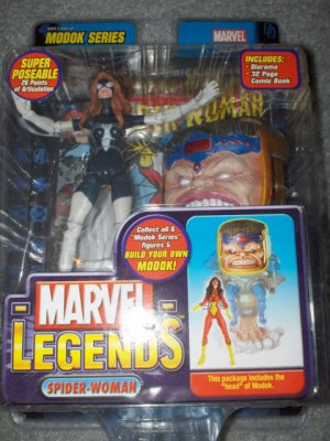 MARVEL LEGENDS M.O.D.O.K. SERIES WAVE 15 SPIDERWOMAN VARIANT ACTION FIGURE 2006 MODOK TOYBIZ