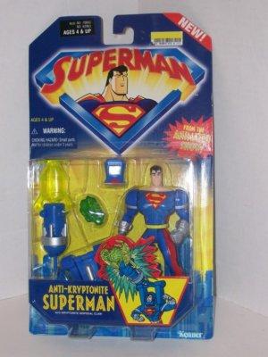 SUPERMAN ANIMATED ANTI-KRYPTONITE SUPERMAN ACTION FIGURE 2001 KENNER HASBRO