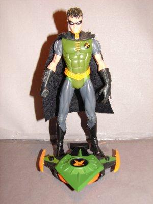 BATMAN DC SUPERHEROES LOOSE BATTLE BOARD ROBIN GREEN VARIANT ACTION FIGURE 2003 MATTEL