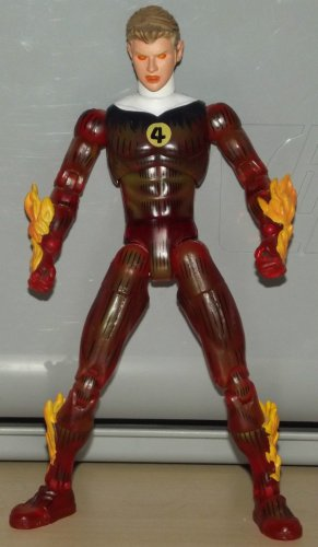 MARVEL LEGENDS FANTASTIC FOUR BOXED SET LOOSE HUMAN TORCH 2005 TOYBIZ WALMART EXCLUSIVE