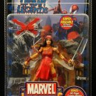 MARVEL LEGENDS SERIES WAVE 4 ELEKTRA FIGURE W/ DISPLAY STAND BASE WALL MOUNT & POSTER BOOK TOYBIZ
