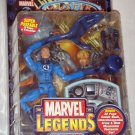 MARVEL LEGENDS SERIES 5 MR FANTASTIC FIGURE REED RICHARDS W/ DISPLAY STAND BASE WALL MOUNT & COMIC
