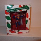 WB WARNER BROTHERS STORE ANIMATED SUPERMAN SANTA CHRISTMAS ORNAMENT 1999 DC COMICS JLA