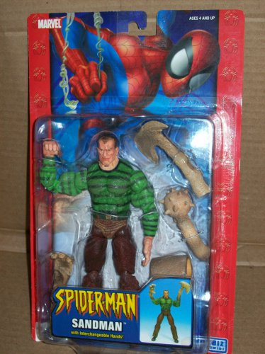 MARVEL LEGENDS SPIDERMAN CLASSICS SANDMAN 7 INCH ACTION FIGURE 2004 TOYBIZ INTERCHANGEABLE ARMS