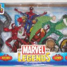 MARVEL LEGENDS SPIDERMAN FEARSOME FOES ACTION FIGURE BOXED SET RHINO CARNAGE VULTURE LIZARD 2005
