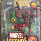 MARVEL LEGENDS SERIES WAVE 6 DEADPOOL FIGURE W/ DISPLAY STAND BASE WALL MOUNT COMIC BOOK TOYBIZ