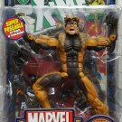 MARVEL LEGENDS SERIES WAVE 5 SABRETOOTH FIGURE W/ DISPLAY STAND BASE WALL MOUNT & COMIC BOOK TOYBIZ