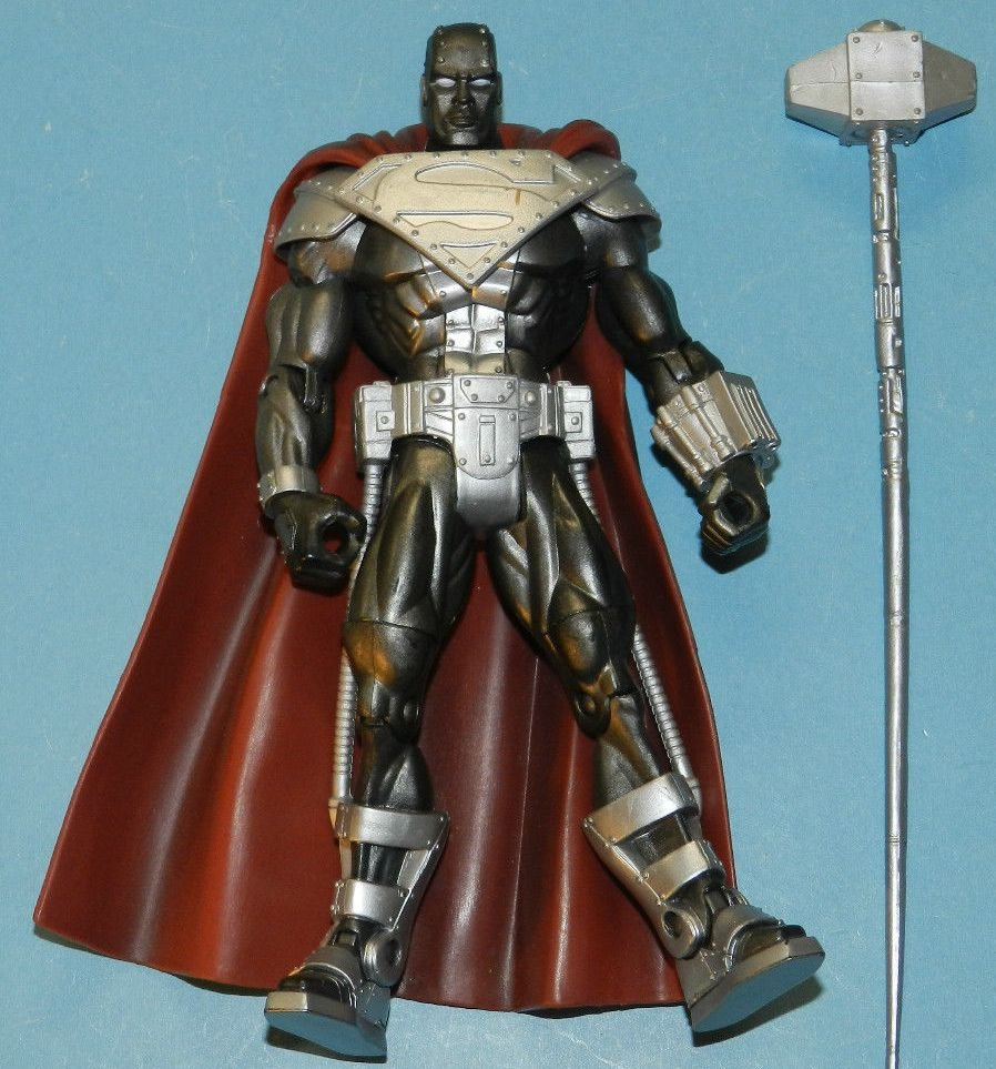 SUPERMAN DC SUPERHEROES STEEL ACTION FIGURE ONLY 2007 MATTEL SELECT SCULPT UNIVERSE CLASSICS