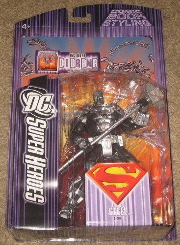 SUPERMAN DC SUPERHEROES STEEL ACTION FIGURE CHROME VARIANT MATTEL SELECT SCULPT UNIVERSE CLASSICS