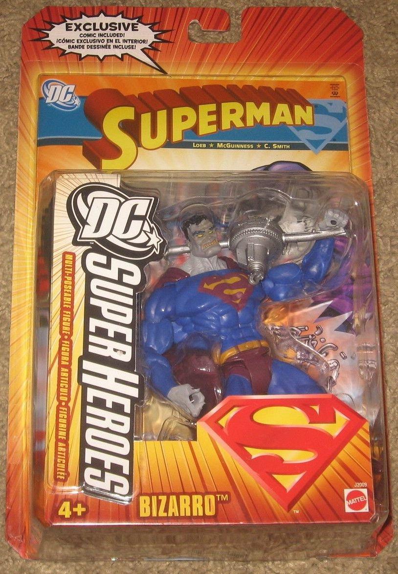SUPERMAN DC SUPERHEROES BIZARRO ACTION FIGURE 2006 MATTEL SELECT SCULPT UNIVERSE CLASSICS JLA JLU