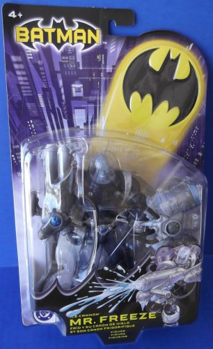 BATMAN DC SUPERHEROES ICE CANNON MR FREEZE 6 INCH ACTION FIGURE 2003 MATTEL NO GOGGLES ANGRY VARIANT