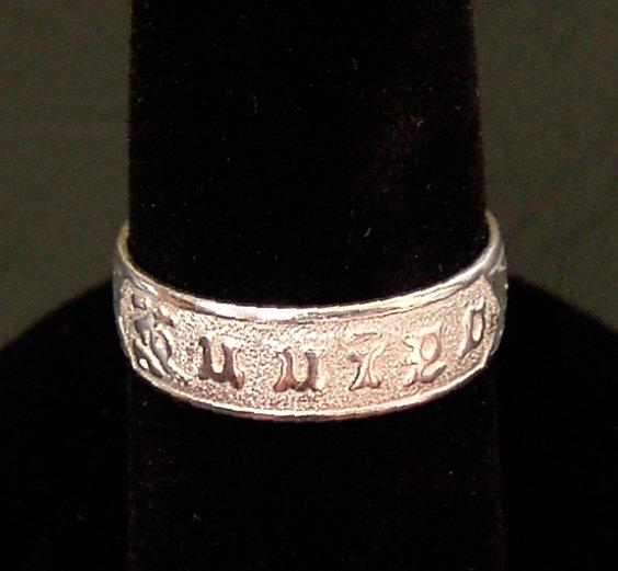 Silver Traditional Hawaiian Heirloom Ring, 6mm sz 8