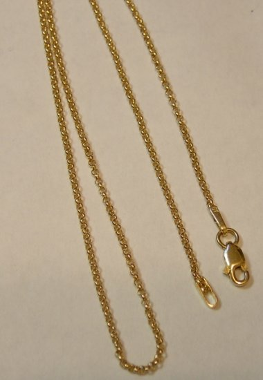 14kt Solid Gold  16 inch Rope Chain