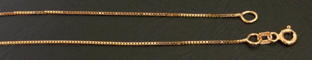 14kt Solid Gold Box 16inch Chain