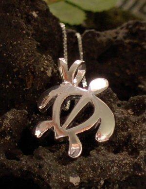 Silver Hawaiian Honu (Turtle) Pendant
