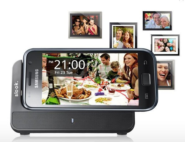 slook. Samsung Galaxy Charging Cradle + Speaker (Web Code: 219724)