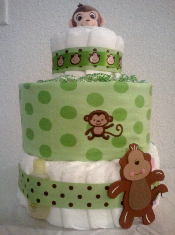 Monkeyin' Around Diaper Cake