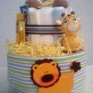 Diaper Cake 2 Tier Baby Boy Jungle