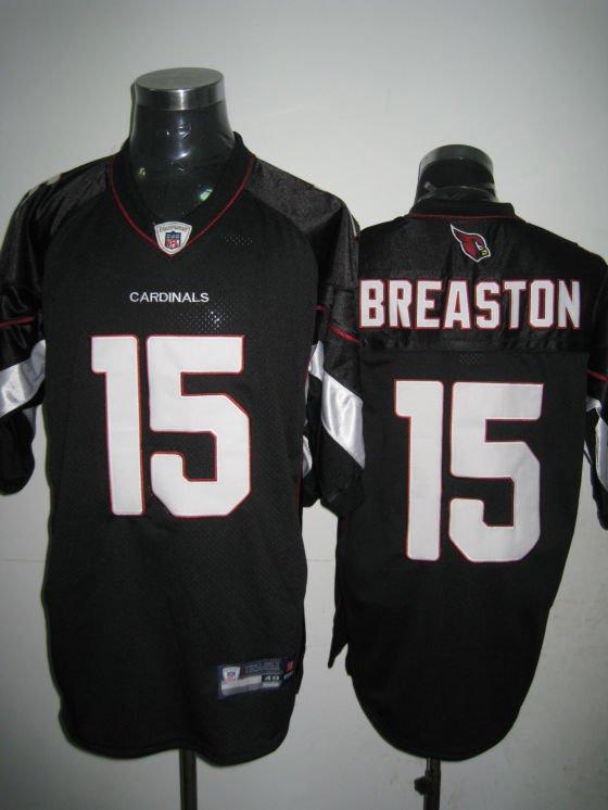 Arizona Cardinals # 15 Breaston NFL Jersey Black