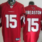 Arizona Cardinals # 15 Breaston NFL Jersey Red