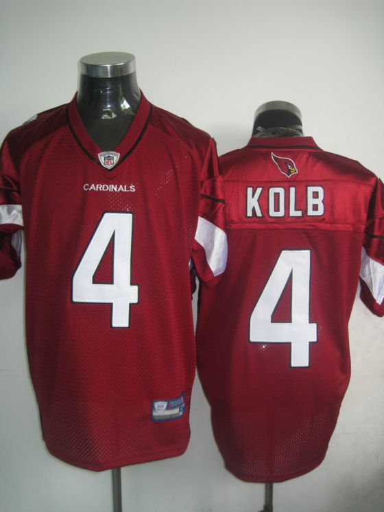 Arizona Cardinals # 4 Kolb NFL Jersey Red