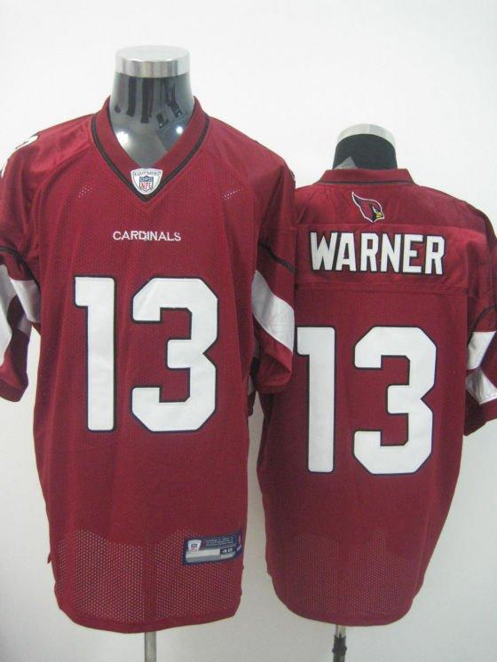 Arizona Cardinals # 13 Warner NFL Jersey Red
