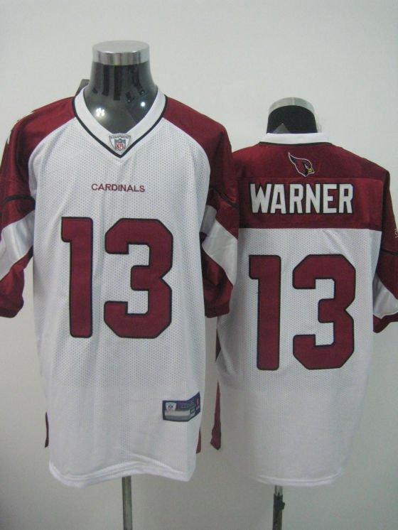 Arizona Cardinals # 13 Warner NFL Jersey White
