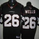 Arizona Cardinals # 26 Wells NFL Jersey Black