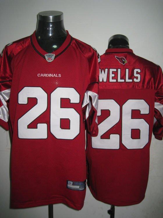 Arizona Cardinals # 26 Wells NFL Jersey Red