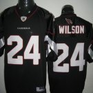 Arizona Cardinals # 24 Wilson NFL Jersey Black