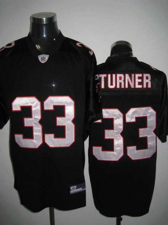 Atlanta Falcons # 33 Turner NFL Jersey Black