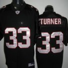 Atlanta Falcons # 33 Turner NFL Jersey Black