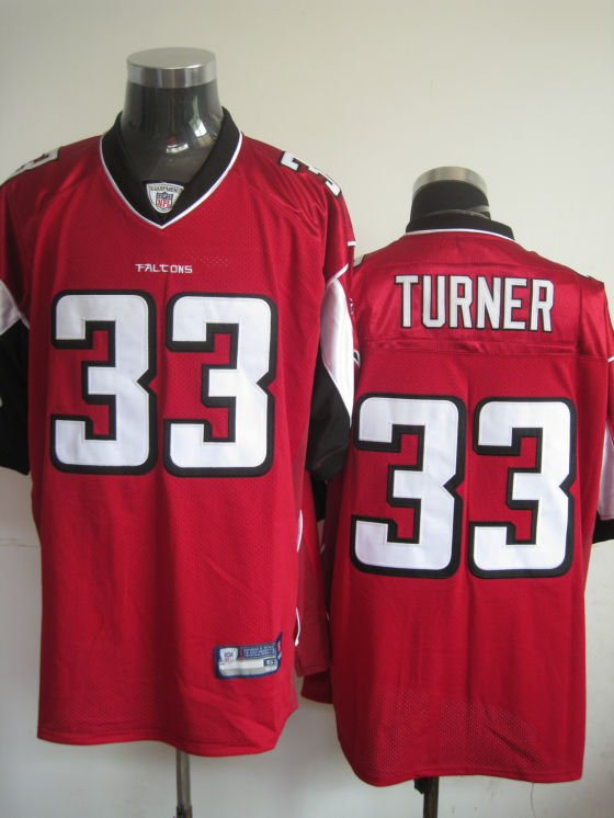 Atlanta Falcons # 33 Turner NFL Jersey Red