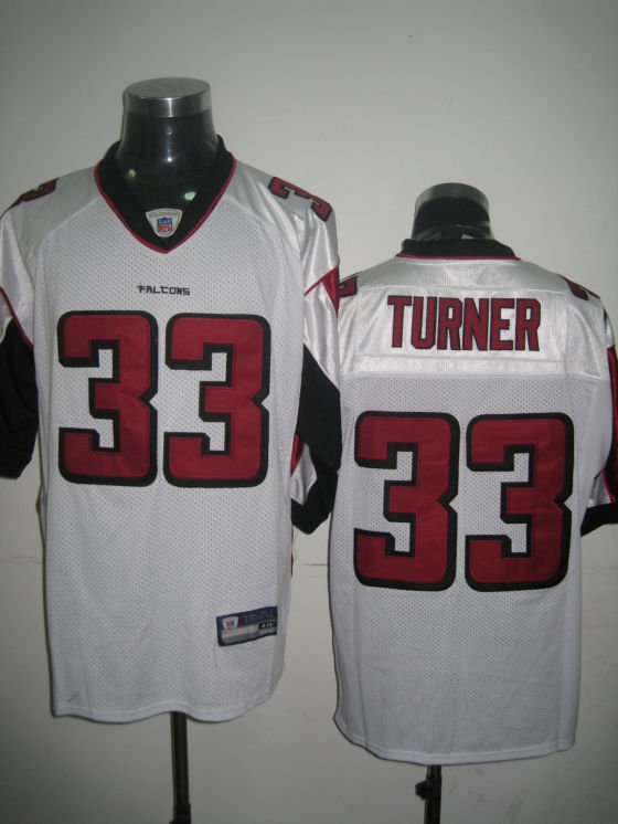 Atlanta Falcons # 33 Turner NFL Jersey White