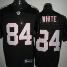 Atlanta Falcons # 84 White NFL Jersey Black