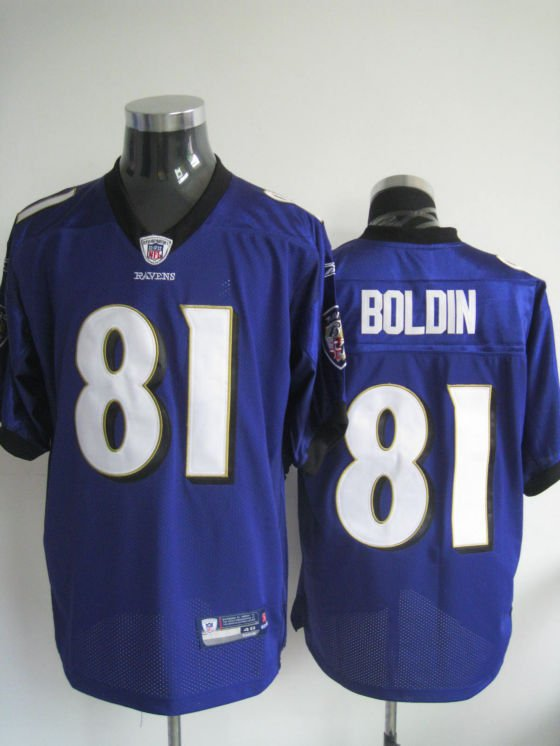 Baltimore Ravens # 81 Boldin NFL Jersey Purple