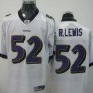 Baltimore Ravens # 52 Lewis NFL Jersey White