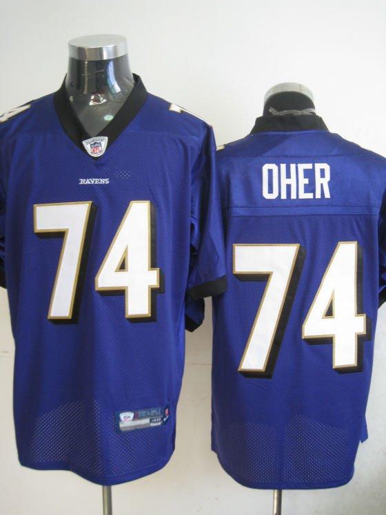 Baltimore Ravens # 74 Oher NFL Jersey Purple