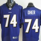 Baltimore Ravens # 74 Oher NFL Jersey Purple