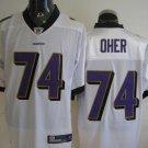 Baltimore Ravens # 74 Oher NFL Jersey White