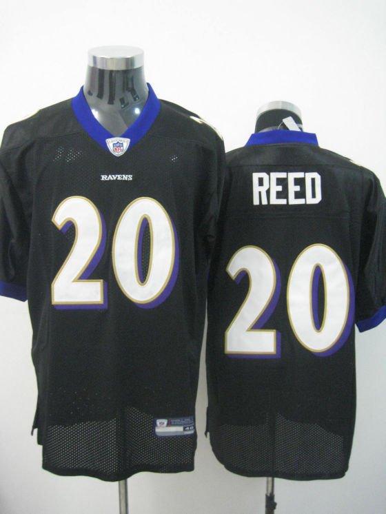 Baltimore Ravens # 20 Reed NFL Jersey Black